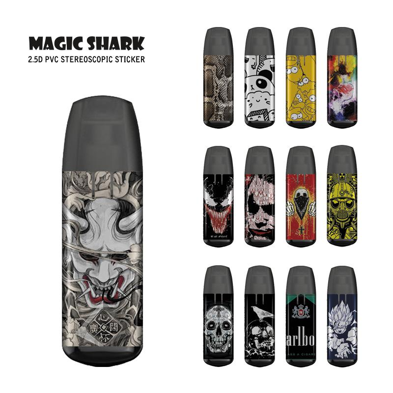 Magic Shark Stereo 3M Dragon Ball Simpson Panda Snake Skull Joker Venom Evil Sticker Film Cover Case For JUSTFOG MINIFIT