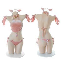 Сексуальное нижнее белье Милая свинья косплей секс игрушечная перчатка ночная рубашка для женщин 1