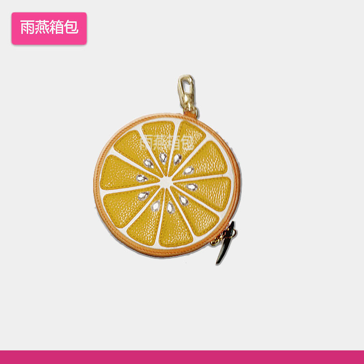 Customizable New Style Fruit Purse Key Hanger Bag Cute Change Pu Bag
