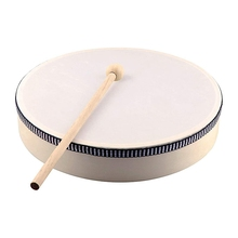 Percussion-Instrument Tambourine-Drum Drumstick Wooden Musical-Toy Portable 8 for