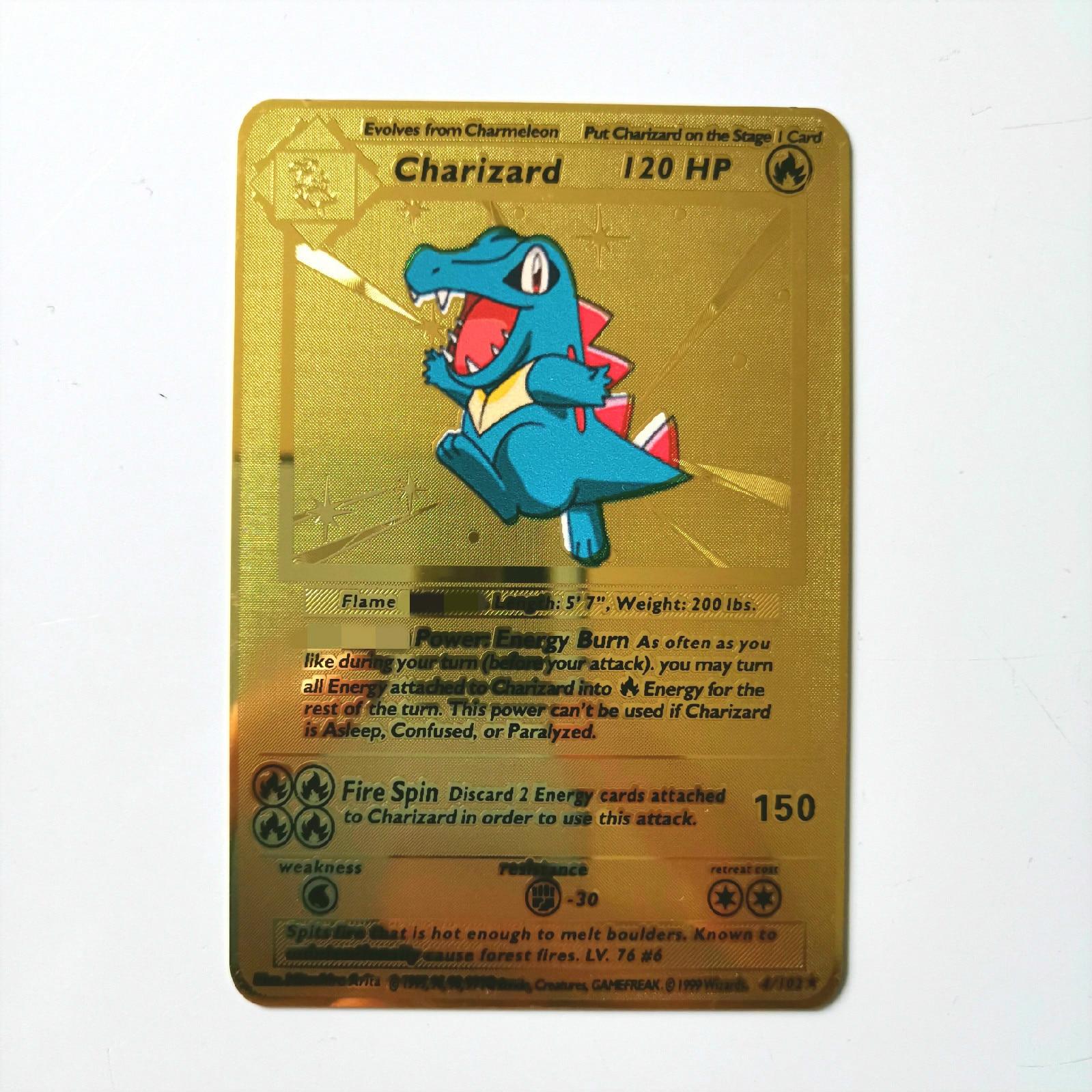 Dragon Ball золотая металлическая карточка супер игра Коллекция аниме-открытки игра детская игрушка - Цвет: L