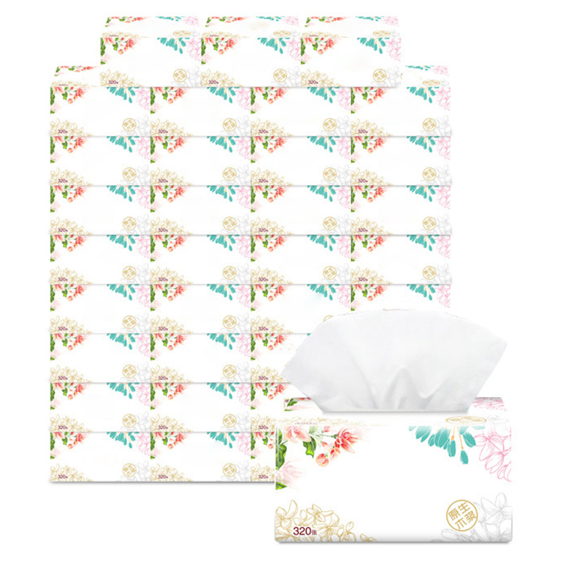 3 Packs Soft Pure Facial Tissues Paper Napkins Household Office Paper Towels D88