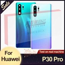 Recambio de carcasa trasera Original para Huawei P30 Pro, cristal de batería con lente de cámara, funda trasera con logotipo
