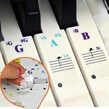 Keyboard Sticker Transparent Piano 88/61/49/37 Key Electronic Keyboard Piano Sticker General Purpose Piano Stave Note Sticker