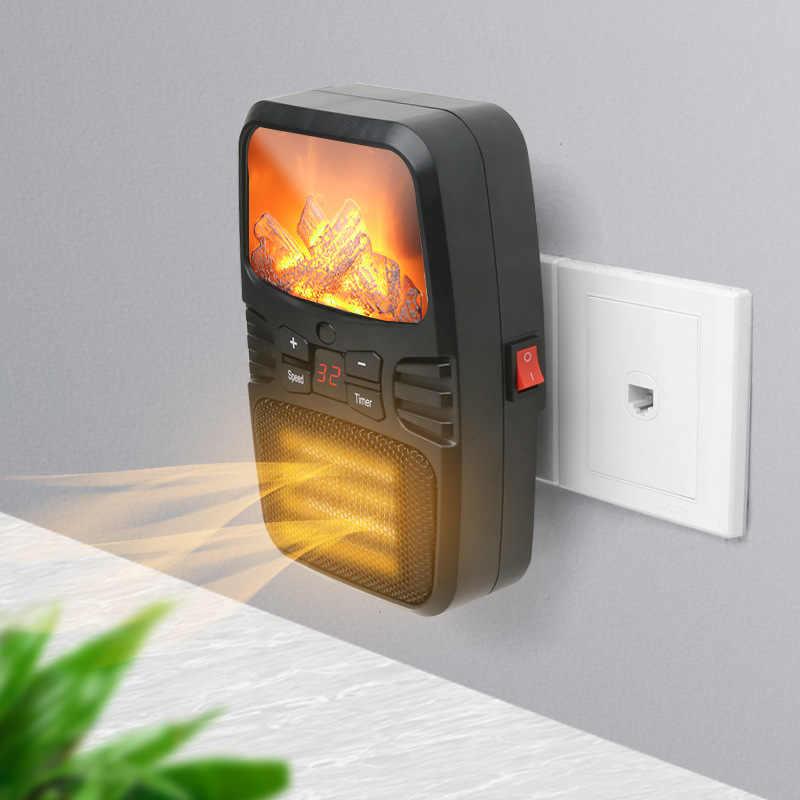 Mini pulpit grzejnik elektryczny gospodarstwa domowego sławy lampa kreatywny przenośny podgrzewacz pilot zdalnego sterowania powietrza cieplej wentylator ścienny wylot grzejnik płomienia