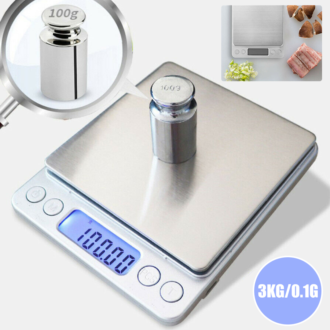Mini Digital LCD Baking Kitchen Scales 3kg/0,1g Jewelry Weight Balance Scale Household Precision Electronic Scales