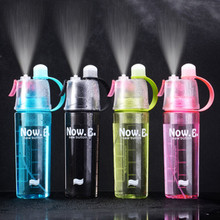 400/600ML Water Bottle Spray Plastic Cup Leakproof Candy Color Bottle Gym Yoga Sport Kettle Travel Camping Portable new 400 600ml 3 color solid plastic spray cool summer sport water bottle portable climbing outdoor bike shaker my water bottles
