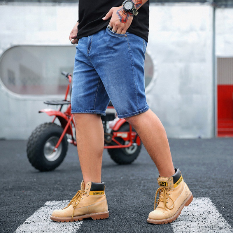 Summer New Style Popular Brand Fat Large Size Casual Jeans Men's Loose-Fit Short Straight-Cut Men's Trousers Shorts Trend Pants
