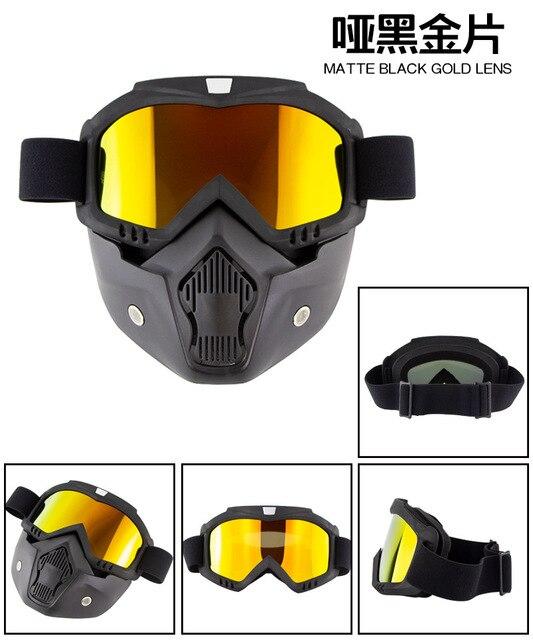 Индивидуальная Ретро Маска для лица очки мотогонок по пересеченной
