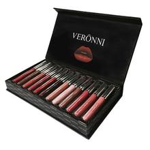 VERONNI Brand 6/12Colors Matte Liquid Lipstick Makeup Set Lip Gloss Kit Batom Waterproof Lips Cosmetics Velvet Lipkit