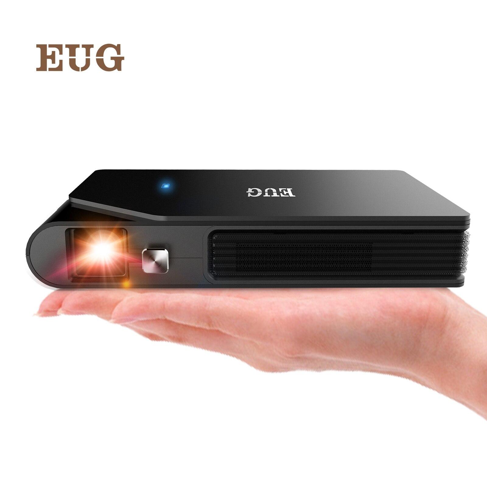 Mini wifi 3d dlp projetor pequeno projetor de filme sem fio portátil ao ar livre hd suporte 1080p airplay bateria embutida