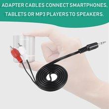 2021 Mini 3,5 мм штекер разъем к 2 RCA штекер музыка стерео аудио Y адаптер кабель кабель шнур AUX для Mp3 Pod Phone TV Sound Speakers