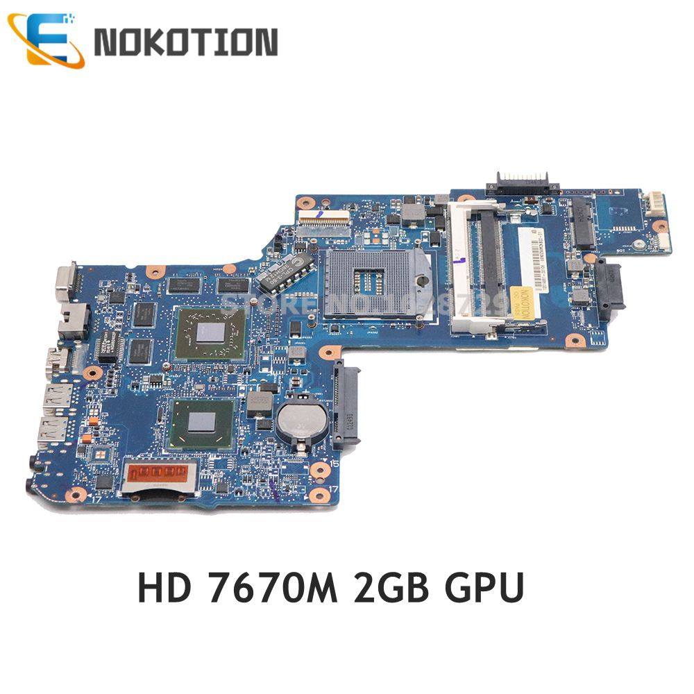 NOKOTION H000051770 MAIN BOARD For Toshiba Satellite C850 L850 Laptop Motherboard HM76 DDR3 HD7670M 2GB Graphics