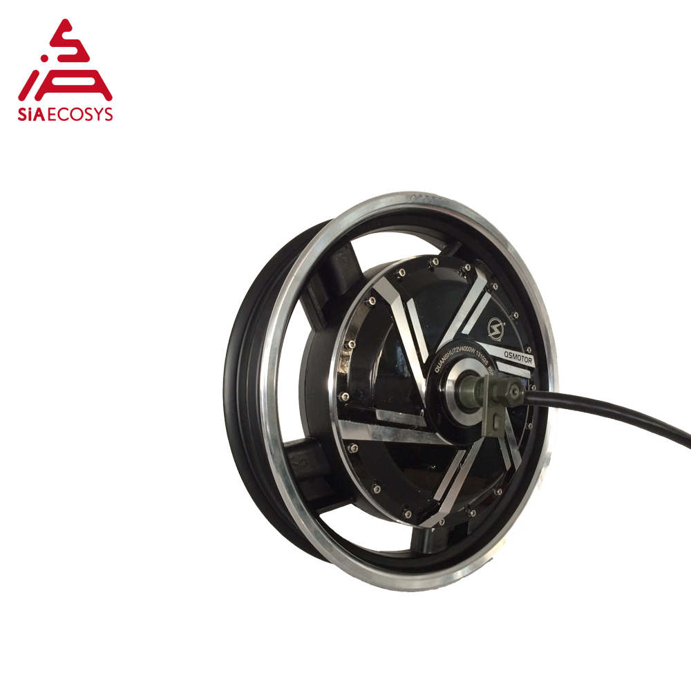 <font><b>QS</b></font> <font><b>Motor</b></font> 17*3.5inch 8000W <font><b>273</b></font> V3 hot sale BLDC in wheel <font><b>motor</b></font> dual shaft hub <font><b>motor</b></font> for ectric scooter/ e-motorcycle image