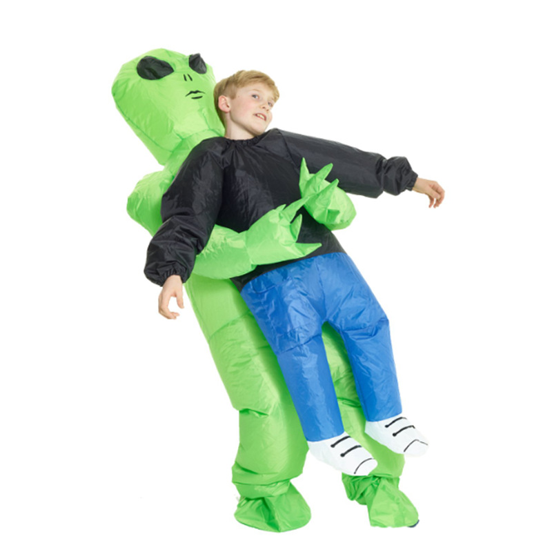 Funny Green Ghosts Hugs Inflatable Costumes Kid Carnival Holiday Boy Inflatable Clothes Spoof Performance Show Clothing C78111CH
