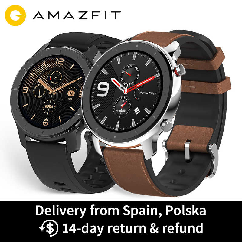 Huami Amazfit GTR 47mm 42mm GPS Smart Watch Men 5ATM Waterproof Smartwatch 24 Days Battery AMOLED Screen 12 Sport Modes