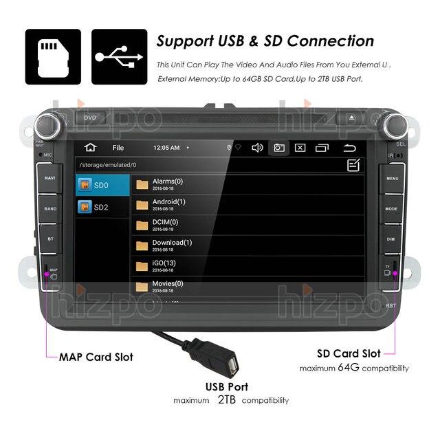 Royaume-uni/DE/états-unis/CN entrepôt 4 + 64 android 10.0 lecteur dvd DE voiture pour VW polo golf passat tiguan skoda yeti superbe rapide pour skoda gps navi