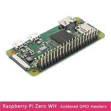 Novo raspberry pi zero w 512m ram 1ghz cpu wi-fi & bluetooth pré-soldado 40 pinos gpio cabeçalho versão raspberry pi zero w h