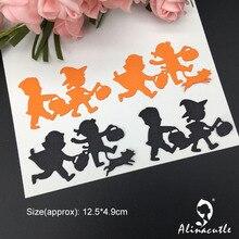 Высечки металлическая пресс-форма Хэллоуин ребенок Скрапбукинг Бумага Ремесло ручной работы карты удар искусство резак Alinacutle