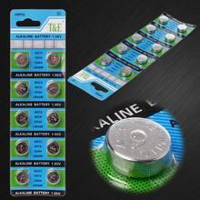 Piles boutons alcalines AG13 A76 LR44 357A S76E G13, 10 pièces, 1.55V, en forme de pièce de monnaie