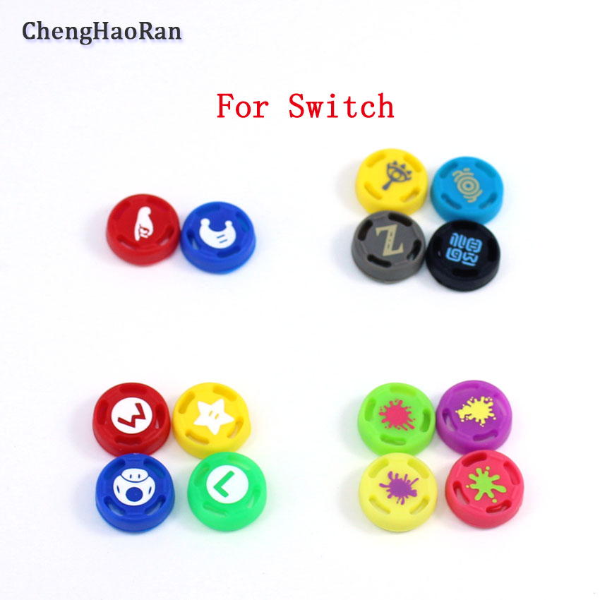 ChengHaoRan Silicone Analog Thumb Grips Sticks  Caps For Nintend Switch NS JoyCon Controller Sticks Cap Skin For Joy Con Cover