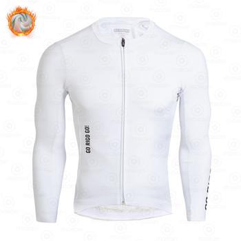 GO RIGO GO zimowa koszulka kolarska mężczyźni odzież termiczna z długim rękawem MTB jazda na zewnątrz rower jednolite Ropa Ciclismo Hombre tanie i dobre opinie gobik rapha CN (pochodzenie) POLIESTER Pełne cycling shirt Winter Koszulki Zamek na całej długości Dobrze pasuje do rozmiaru wybierz swój normalny rozmiar
