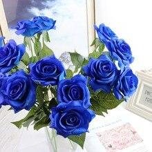 Flor de seda Artificial Vintage rosa de seda flores artificiales europeas caída vívida peonía falsa decoración de fiesta de boda barata