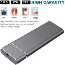 USB 3.1 2TB SSD External Hard Drive Hard Disk Flash Memory 100mb/s for Desktop Mobile Laptop