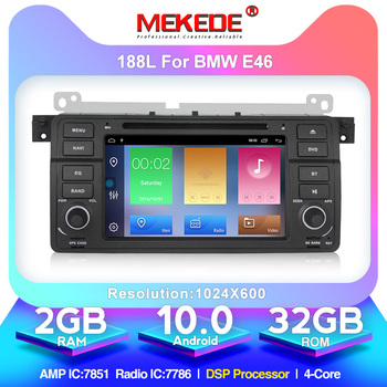 Android 10.0 1024*600 Car dvd multimedia player radio audio for BMW E46 M3 With GPS Navigation BT SD USB RDS free MAP MIC Canbus