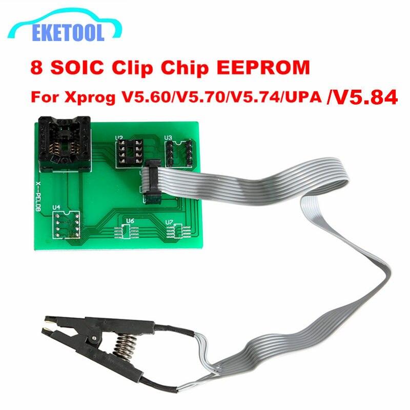 EEPROM Board Adapter 8 Soic Clip For Xprog V5.60/V5.70/V5.84/V5.86/V6.12 UPA Green V1.3 Green PCB Adapter Soic 8 Sop8 Test Clip
