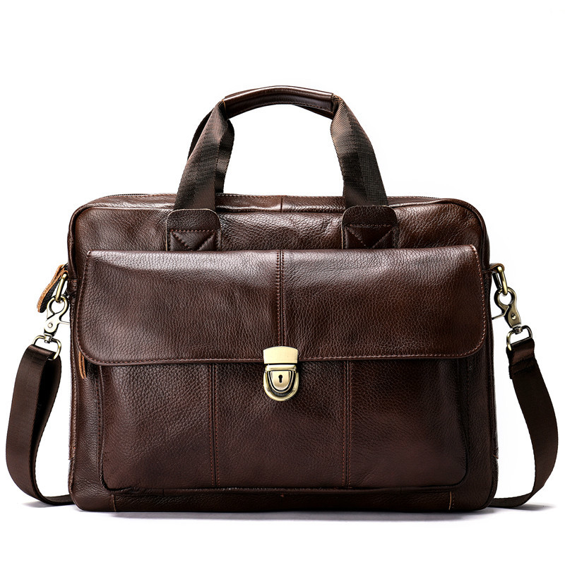 2019 Messenger Bag Men Genuine Leather Men's Shoulder Bag Laptop Men's Fashion Briefcase Handbags Crossbody Bag For Men 315