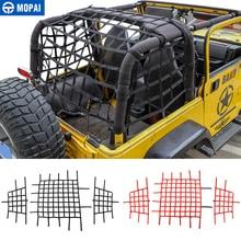 MOPAI Car Cover for Jeep Wrangler TJ Car Trunk Roof Luggage Carrier Cargo Net Storage Net for Jeep Wrangler TJ 1997-2006 цена в Москве и Питере