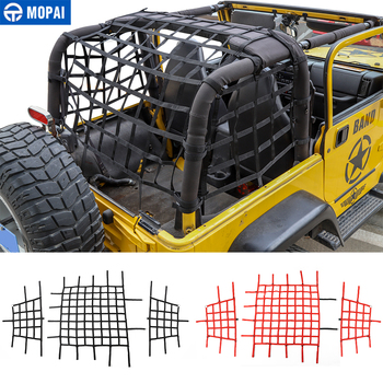 цена на MOPAI Car Cover for Jeep Wrangler TJ Car Trunk Roof Luggage Carrier Cargo Net Storage Net for Jeep Wrangler TJ 1997-2006