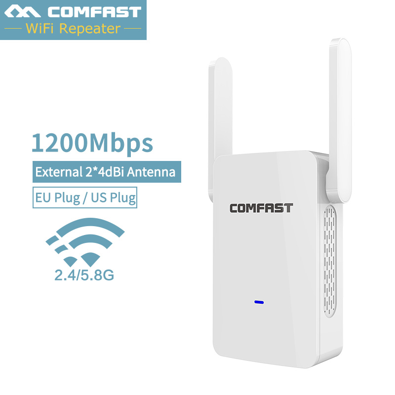 1200Mbps CF-WR753AC Wifi Repeater/Router/AP Access Point Mode Repeater WiFi Dual Band 2.4/5G Wireless External Antenna Repeater