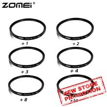 ZOMEI 40.5/49/52/55/58/62/67/72/77/82mm Close up + 8 + 10 เลนส์กรองชุดสำหรับกล้อง DSLR