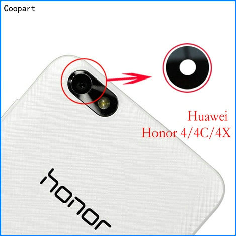 2pcs/lot Coopart New Back Rear Camera Lens Glass Replacement For Huawei Honor4/4C/4X Honor 4 4C 4X With Sticker Top Quality