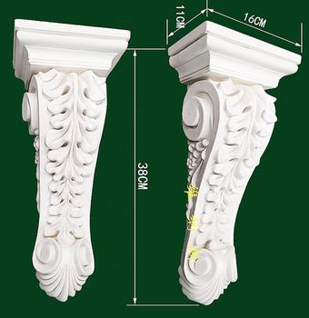 Europejski styl PU poliuretan corbel kominek wystrój wejście korytarz portal corbel kawałek dekorowanie wzmocnienie wejście ornament tanie i dobre opinie Maszyny do obróbki drewna Niestandardowe SDC0410 Trójkąt wspornik Uchwyt ścienny polyurethane (PU) L16 x D11 x H38cm