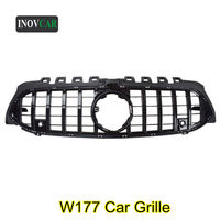 Replacement W177 Front Bumper Black Kidney Grille Grill For B ENZ A Class W177 GT Style Car ABS Mesh Grille