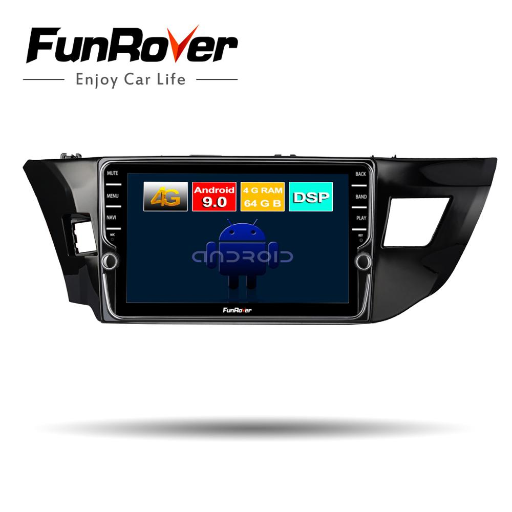 Funrover 4+64G ROM Android 9.0 For <font><b>Toyota</b></font> <font><b>Corolla</b></font> 10 E140 <font><b>E150</b></font> 2006-2013 Car Radio Multimedia Video Player Navigation GPS 2din image