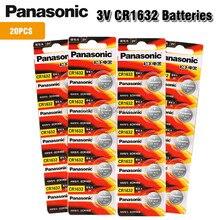 Panasonic baterias de lítio cr1632 pçs/lote dl1632 3v, tipo moeda, bateria, calculadora, brinquedos, dispositivo médico, 20 1632