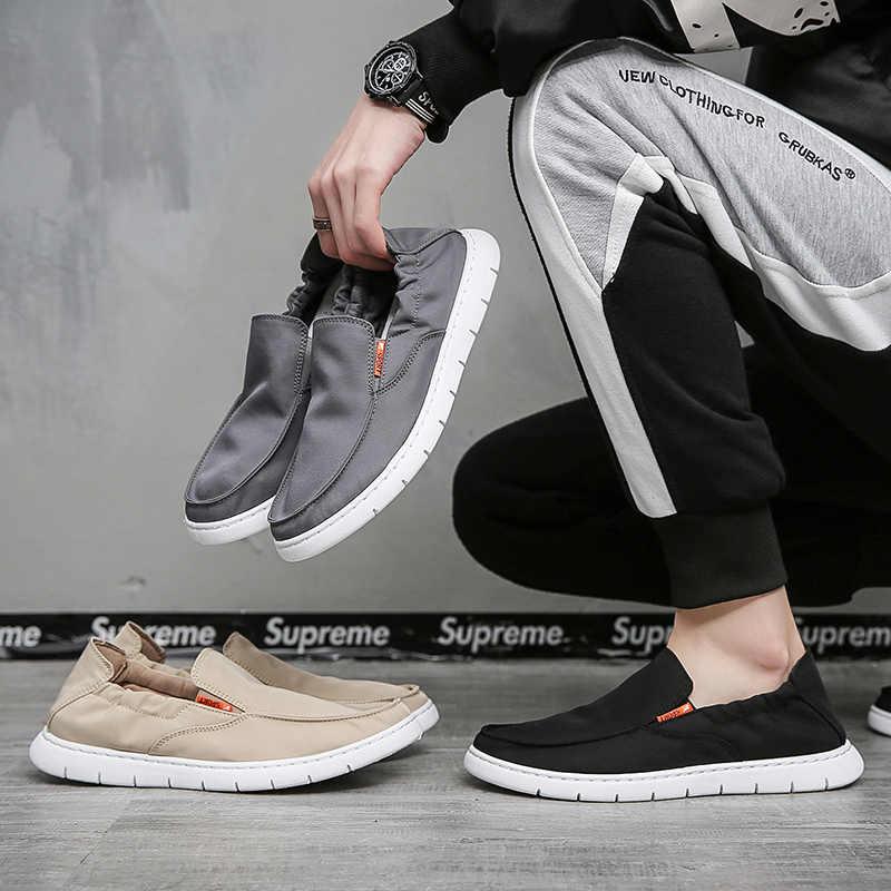 Männer Casual Schuhe Slipper Sneakers 2020 Neue Mode Handgemachte Retro Leinwand Müßiggänger Schuhe Zapatos Casuales Hombres Männer Schuhe
