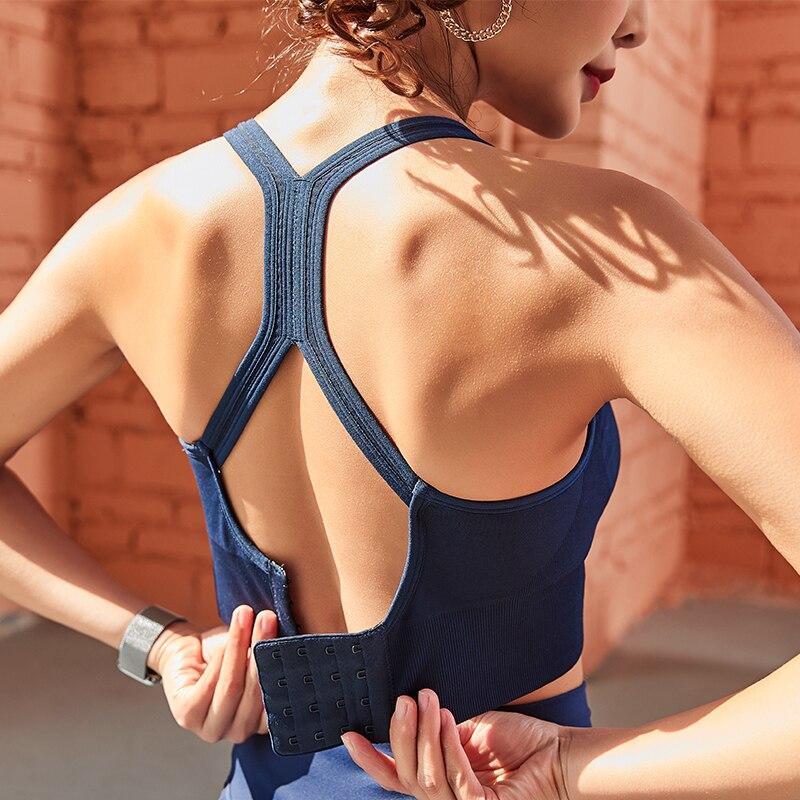 Women Sports Bra Push Up Crop Top Female Fitness Gym Bra Hollow Breathable Top Sexy Running Yoga Bra Athletic Sportswear