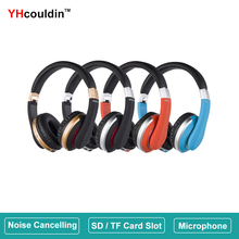 Wireless Headphones Bluetooth 5.0 Over Ear Headset with Microphone SD Card Slot Noise Cancelling Super Bass for Phone PC TV PS4 new tv rechargeable multifunction 2 4g wireless headset tv headphones with microphone for tv pc ipad phones mp3 gifts
