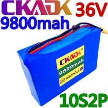 Ckadk 10s2p 36v 9.8ah 450watt 18650 bateria de íon de lítio forscooter skate ebike bicicleta elétrica 42v 37v 35e xt60 sm 2p