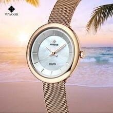 Женские кварцевые часы wwoor с креативным циферблатом роскошные
