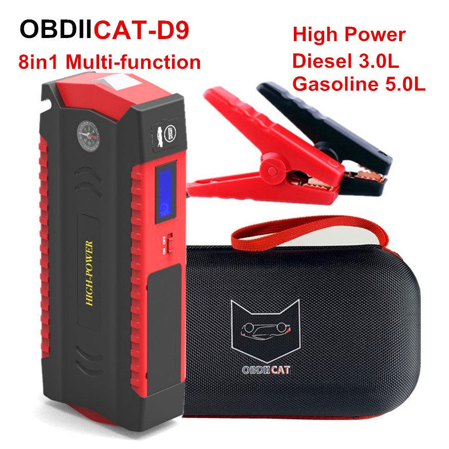 Charger Car-Starter Power-Bank Petrol-Diesel Portable 12V 600A Newest Ce D9-Car title=