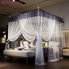 Europejski moskitiera łóżko moskitiera baldachim na podwójne łóżko środek odstraszający komary namiot owad odrzucić łóżko z baldachimem kurtyna namiot z łóżkiem tanie tanio BEREAYOU Trzy-drzwi Uniwersalny Czworoboczny Domu OUTDOOR Camping Podróży Military MF1683 Dorosłych Pałac moskitiera
