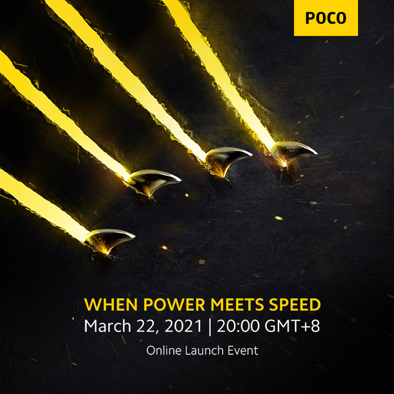 [World Premiere] Newest POCO Smartphone Coming soon ! Add to Cart and Wish List, Online Launch Event:March 22, 2021  20:00 GMT+8