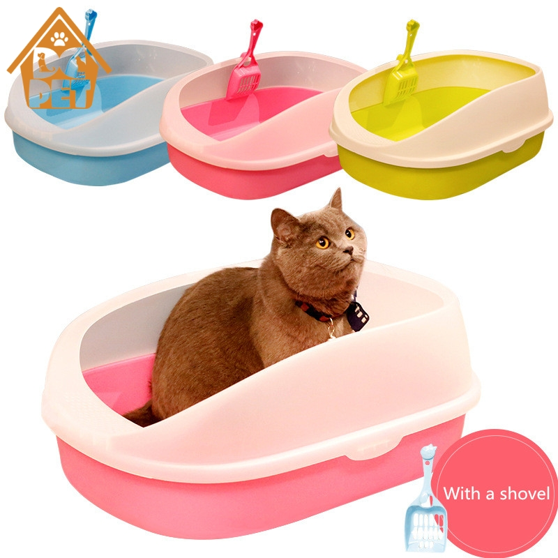 Pet Dog Toilet  Cat Litter Box Cat Dog Tray Teddy Anti-Splash Toilette  With Cat Litter Shovel Puppy Cat Indoor Home Sandbox
