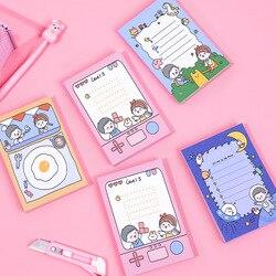 50 Sheets/book Korean Cute Little Girl Daily Cartoon Childhood Note Book Loose-leaf Planner Memo Kawaii Children Stationery Gift